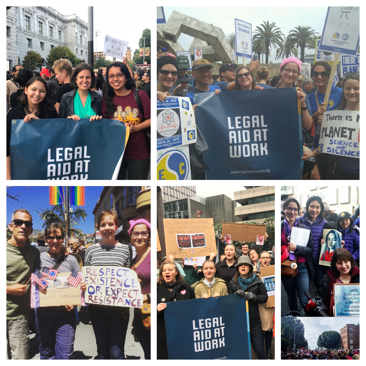 Legal Aid at Work Participates in 2018 Women's March