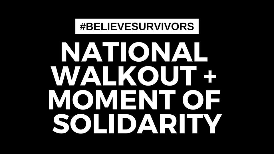Graphic saying: National Walkout and Moment of Solidarity