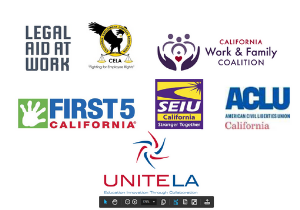 Image of Logos of Legal Aid at Work, CELA, and other Coalition Members