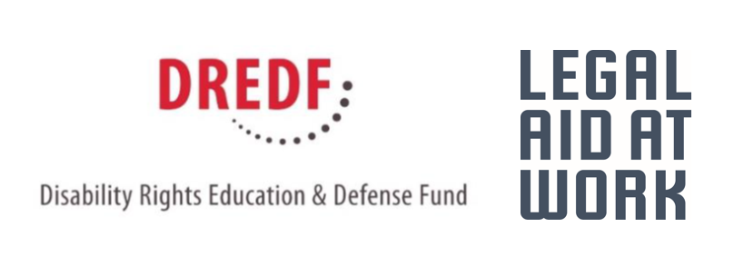Image of Logos of DREDF and Legal Aid at Work